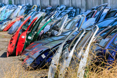 Many car doors for aftermarket. Royalty Free Stock Image