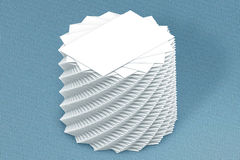 Many cards stack of paper template to presentation Stock Photo