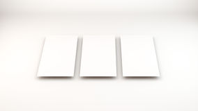 Many cards. template to presentation Royalty Free Stock Image