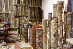 Many Carpets in India Stock Photos