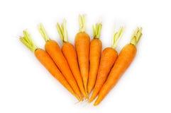 Many carrots isolated Royalty Free Stock Photo