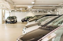 Many cars in parking lot Royalty Free Stock Image