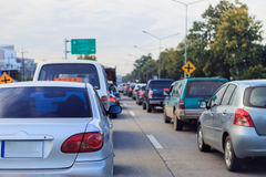 Many cars on the road. Many car on the road is stop for traffic light Royalty Free Stock Photo