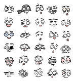 Many cartoon expression Stock Image