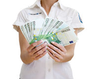 Many of cash in a hand Royalty Free Stock Photo