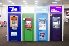Many cash machine or ATM at Don Mueang international airport. Many cash machine or ATM for Thai people and foreigner travelers make a withdrawing at Don Mueang Royalty Free Stock Images