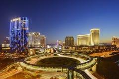 Many casino in the heart of Taipa Stock Images