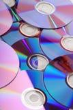 Many CD's isolated Stock Photography