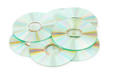 Many CDs isolated Stock Images
