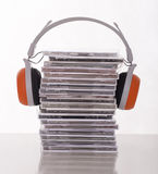 Many cds Royalty Free Stock Image