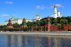 Beautiful ancient Moscow Kremlin in summer stock photo