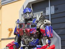 Los Angeles, USA, 2016:02:25 transformer Robot at Universal Studios in Los Angeles. Royalty Free Stock Image