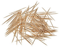 Many chaotic scattered toothpicks Stock Photos