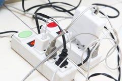 Many charging plug, white Stock Photo