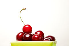 Many cherries in a bowl Stock Photo