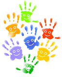 Many child hands Royalty Free Stock Images