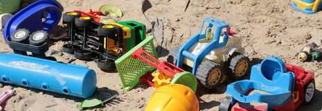Many childish cars toys Stock Image