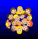 Many children got up in a circle Royalty Free Stock Photo