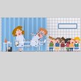 Many children at hostpital Stock Image