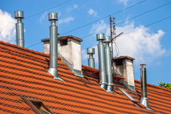 Many chimneys Royalty Free Stock Photography