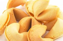 Many Chinese fortune cookie closeup royalty free stock photography