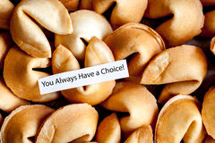 Many Chinese fortune cookie paper with prediction Royalty Free Stock Photos
