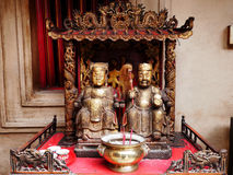 Many chinese god and angel statue in Chinese joss house at Chine Stock Photography