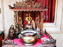 Many chinese god and angel statue in Chinese joss house at Chine Royalty Free Stock Photography