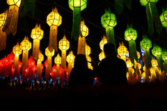 Many chinese lanterns Stock Photo