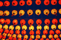 Many chinese lanterns Stock Image