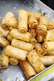 Many chinese springroll Royalty Free Stock Image
