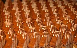 Many Chocoloate Cake Slices Royalty Free Stock Photos
