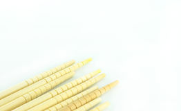 Many chopsticks on white  background Royalty Free Stock Photography