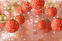Many Chrismas balls Stock Image