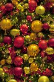 Many christmas balls. Many red and yellow christmas balls Stock Images