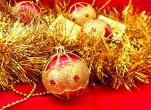 Many christmas balls Stock Photo