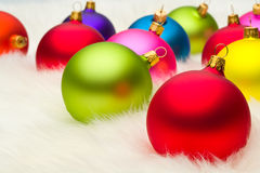 Many Christmas baubles Royalty Free Stock Photo
