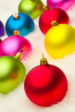 Many Christmas baubles Royalty Free Stock Image