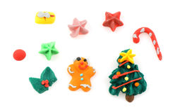 Many christmas candy sweets Stock Photos
