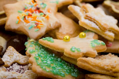 Many christmas cookies Stock Images