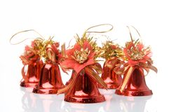 Many christmas handbells Stock Images
