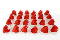 Many christmas hats Royalty Free Stock Images