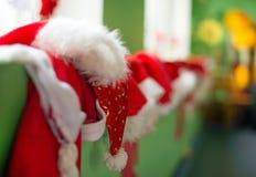 Many christmas hats. Many christmas hats in kindergarten Stock Photography