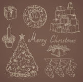 Many christmas items Stock Images