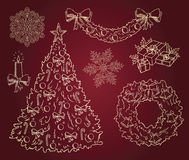 Many christmas items Stock Photography