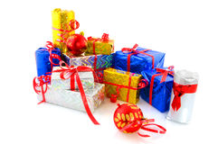Many christmas presents Royalty Free Stock Photography