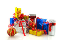 Many christmas presents Royalty Free Stock Photo