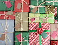 Many Christmas Presents Stock Photo