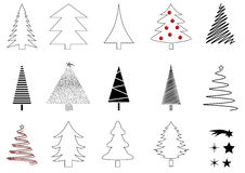 Many christmas trees Royalty Free Stock Photo