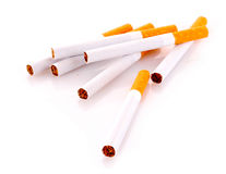 Many cigarettes isolated Royalty Free Stock Photos
